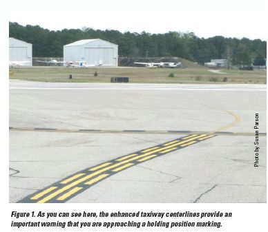 enhanced taxiway centerlines