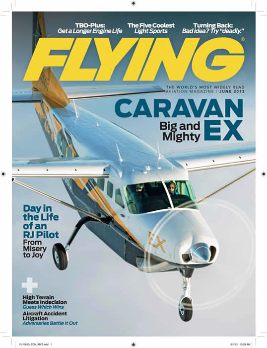 FLYING Magazine Cover Shot