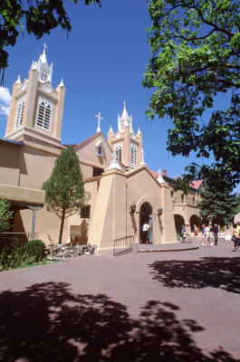 San Felipe de Neri church still stands on the original site in Old Town.