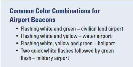 airport beacon colors