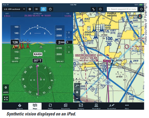 synthetic vision on iPad