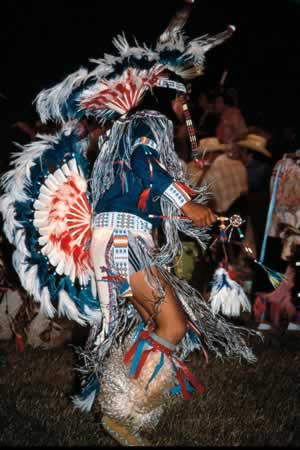 Native American dancer at a Pow-wow