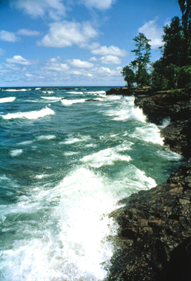 View of Lake Superior in the Upper Peninsula.