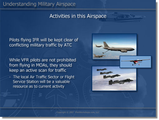 Military airspace activities