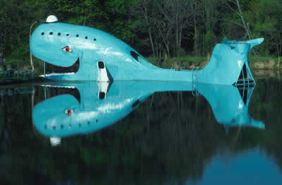 The old Blue Whale amusement site gave pleasures to travelers