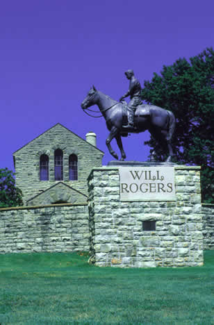Humorist Will Rogers is one of Oklahoma's favorite sons.